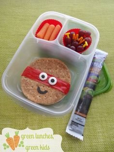 Ninja Turtles lunch idea by Green Lunches, Green Kids | packed with @EasyLunchboxes