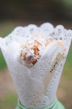 diy donut hole wedding favors