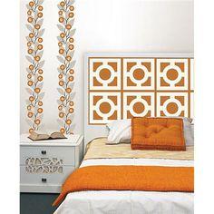 stripe decal, pattern, wallpop zoe, zoe blox, autumn decor, focal point, stripes, dots, decor idea