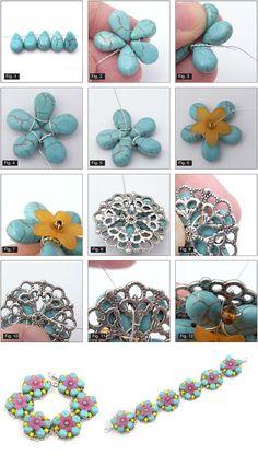 Tutorials | Wired Turquoise Bracelet | Handmade Fashion Jewellery – Devoted to DIY Jewellery
