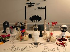 diy mask bar halloween party