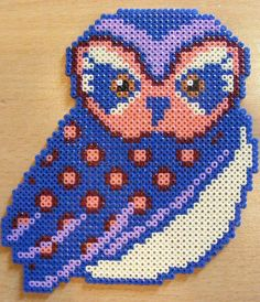 owl - hama perler  bead pattern - Bügelperlen