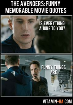 Avengers Movie Funny Quotes