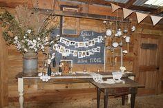Southern Vintage wedding rentals at Vinewood Weddings & Events - Fall rustic wedding