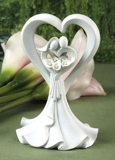 Love's Embrace Calla Lily Cake Top from Wedding Favors Unlimited