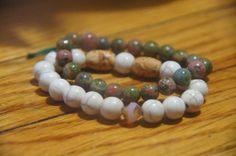 Vintage handmade Jade Marble Aventurine dyed Jade by AnEyeforJulz, $25.00