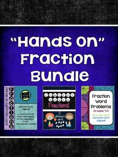 By request...3 of my best selling, hands on, critical thinking, deep understanding fraction resources now bundled together at a discounted price!  Everything you need to teach fractions in a meaningful way.  Check it out...this is NOT your typical set of fraction resources!  $