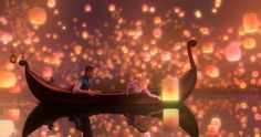 disney movies, walt disney, magic, dream, disney princesses, sky lanterns, scene, boat, tea lights