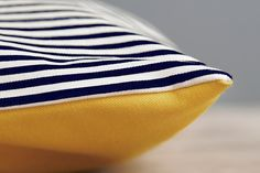 Nautical Navy and White Striped Canvas  pet bed/ screen print