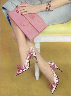 Shoes By Roger Vivier (The Creator Of The Stiletto Heel) - 1959    L'Officiel De La Mode - 447-448