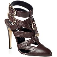 Brian Atwood 'Sable' strappy buckled pumps