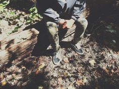 Vans Old Skools and camo. In the wild. Or your backyard. via Tumblr