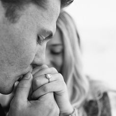 'show off the ring' engagement photo