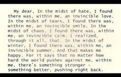 Invincible Summer within ~Albert Camus
