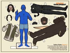Arrested Development paper dolls.