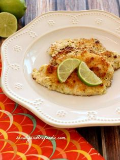 Garlic Lime Fillet of Fish with garlic lime butter.  Grain free, paleo, low carb and gluten free / beautyandthefoodie.com