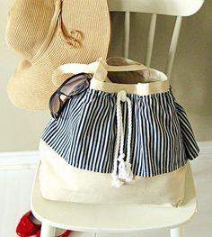 Cute beach or shopping bag with tutorial @Craftberry Bush