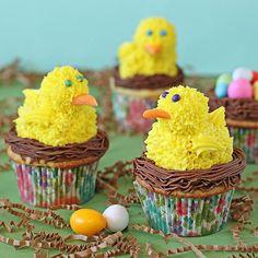 snack cake, cake truffles, food, chick cupcak, spring cupcak