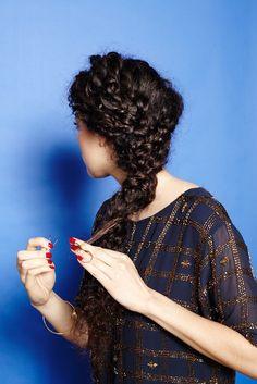 Big, curly braid tutorial
