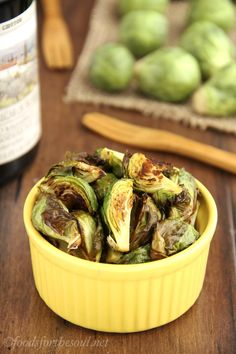 These addictive Brussels sprouts only requires 2 ingredients & 15 minutes to make! So simple. Even veggie-haters LOVE this recipe!
