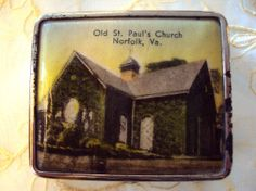 Vintage Compact of Old St. Paul's Church in Norfolk, VA, RetroRosiesVintage on Etsy