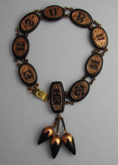 Victorian Mourning bracelet....personalized w/ initials of loved ones.