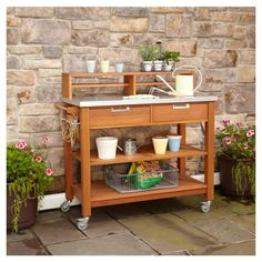 Been wanting to repurpose the kids changing table...this looks perfect. Potting Bench....or island for the kitchen.