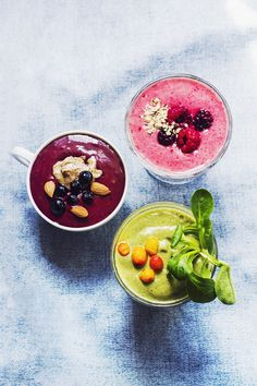 Colorful smoothies make summertime even better.