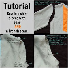 Sew in a Shirt Sleeve with Ease and a french seam || Sewing Like Mad