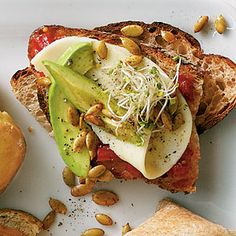 Avocado and Sprout Sandwiches Recipe | MyRecipes.com Mobile
