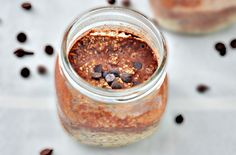 10 Overnight Oats Recipes to Make Mornings Easier | Almond Butter Chocolate Oats: King calls this a healthy breakfast that feels like dessert, and she's right. The nut butter and chia seeds provide healthy fats and fiber to keep you full, while the cocoa powder and dates give it a rich taste.