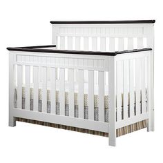 "Delta Chalet 4-in-1 Lifetime Crib - White Ambiance/Dark Chocolate - Delta - Babies ""R"" Us $299.99"