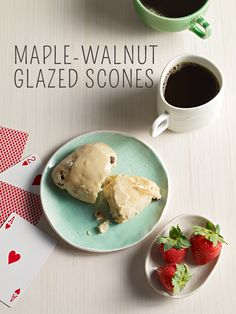 Maple-walnut glazed scones that make any morning perfect! #breakfast # ...