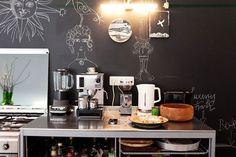 Chalboard kitchen walls. Love them!