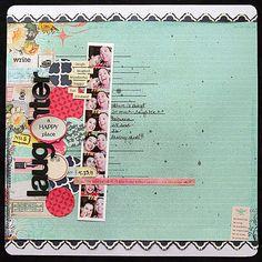 scrapbook layout by Elizabeth Carney