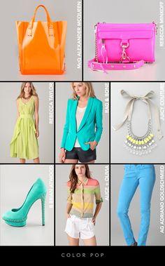 Spring 2012 Color Trends: Color pop