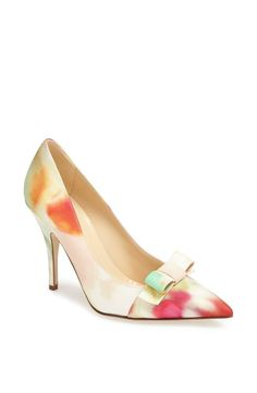 Valentine's Day must-have - cute floral pump to pair with cute pink or red dress.