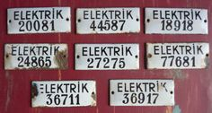 Turkish Electric Number Tags by CindyDean on Etsy, $2.00 number tagsa, numbers, electr number, turkish electr