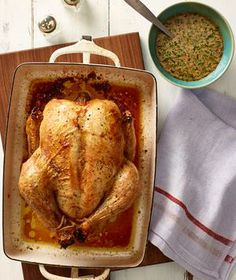 Roast Chicken With Herbed Cream Sauce recipe