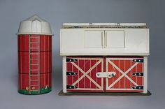 """Vintage - Fisher Price farm Remember the door """"mooed"""" when you opened it!!!"""