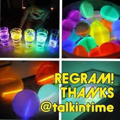 "Thanks @talkintime!  These are sooo cool! GLOW EGGS ""Light up the night, or your next speech session, with these glow-in-the-dark ideas. First, stock up on inexpensive glow sticks at your local Dollar Tree or Target dollar bin. Next, fill plastic [Easter] eggs with mini glow sticks/trinkets with target sounds, blow up balloons-placing glow stick inside and tie with string to various artic cards, place glow sticks in glasses of water and cover with pictures for a great picture-description ..."