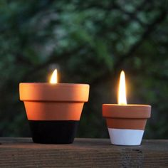 DIY - Cute beeswax candles in flower pots