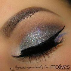 Silver eyeshadow Check out Dieting Digest silver eyeshadow, eye makeup, glamor makeup, glamorous makeup, beauti, eyeshadows, glitter, ballroom dance makeup, hair