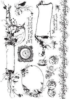 Prima - Pixie Glen Collection - Cling Mounted Rubber Stamps at Scrapbook.com $7.99