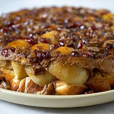 Baked French Toast with apples and cinnamon.