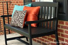 Bring a weathered bench back to life with Americana Decor Chalky Finish.