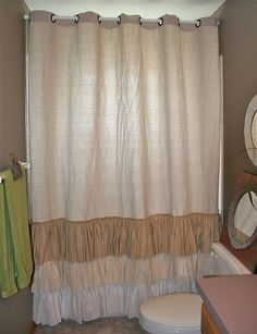 Hey, I found this really awesome Etsy listing at http://www.etsy.com/listing/153276034/shabby-chic-shower-curtain-ruffled