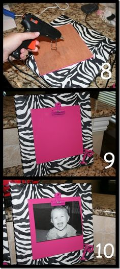 Don't like the zebra but I like the clip so you can easily change the picture or put a cute note there instead