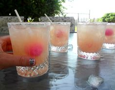 one shot of vodka and fill with grapefruit juice then add a pink blowpop dipped in sugar