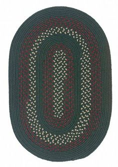 """Oval Deerfield Style Braided Rug in Hunter Green (Hunter Green) (.5""""H x 36""""W x 60""""D) by Colonial Mills. $135.00. Reversible. Color: Hunter Green. Oval Cut. Size: .5""""H x 36""""W x 60""""D. Versatile. Whether family room or kitchen, bedroom or bath, dinning room or patio, braided rugs offer a dazzling array of color and design possibilities. In fact, top decorators are discovering the versatility of these braided rugs, which combine traditional craftsmanship with the l..."""